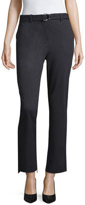 Liz Claiborne Straight Fit Belted Ankle Pants