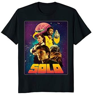 Star Wars Han Solo Movie Four Heroes Poster Graphic T-Shirt