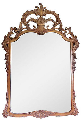 One Kings Lane Vintage Large Ornate Italian Hand-Carved Mirror - The Gilded Room