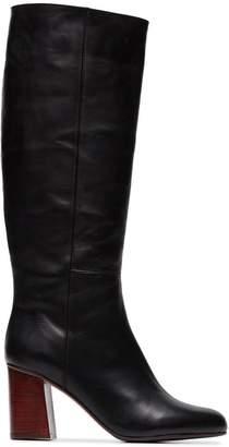 Atelier Atp black Cynara 75 long leather boots