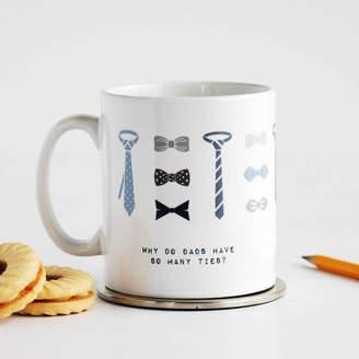 DAY Birger et Mikkelsen Cloud 9 Design So Many Ties, Funny Father's Mug