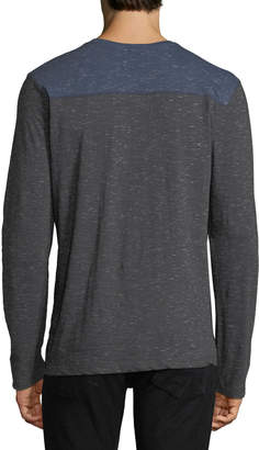Report Collection Men's Snow Slub Henley Shirt