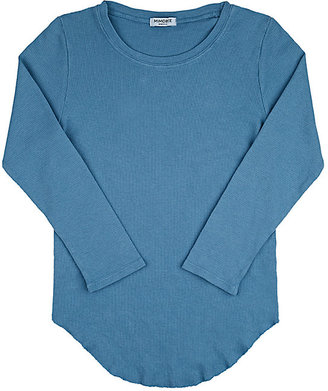 Mimobee Thermal-Knit Cotton T-Shirt-BLUE $38 thestylecure.com