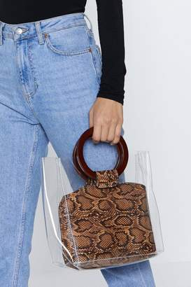 Nasty Gal WANT Rattle Some Cages Snake Tote Bag