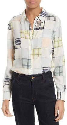 Women's Equipment Brett Print Silk Shirt $258 thestylecure.com