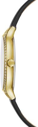 BCBGMAXAZRIA Classic Leather-Strap Watch