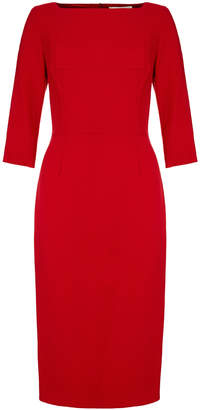 Goat Marcelle Berry Red Pencil Dress