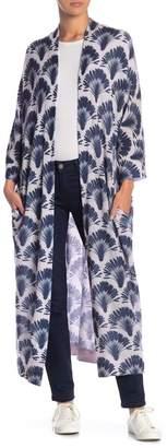360 Cashmere Berlin Cashmere Print Waist Tie Cardigan