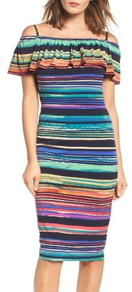 Women's Maggy London Off The Shoulder Sheath Dress $118 thestylecure.com