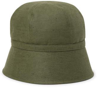 da8f437ef Needles - Slub Linen and Cotton-Blend Bucket Hat - Men - Army green