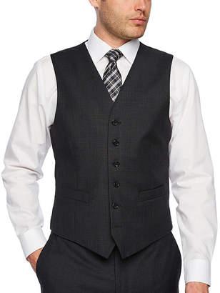 STAFFORD EXECUTIVE Stafford Executive Super100 Charcoal Grid Classic Fit Suit Vest