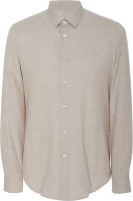 Fioroni Slim-Fit Cotton And Cashmere-Blend Shirt