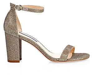 3e30ced25d3 Stuart Weitzman Women s Nearlynude Glitter Block Heel Sandals