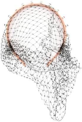 RED Valentino net detail embellished headband