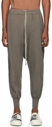 Rick Owens Grey Prisoner Drawstring Lounge Pants