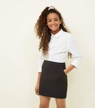 New Look Girls Grey Elasticated Waist Skirt