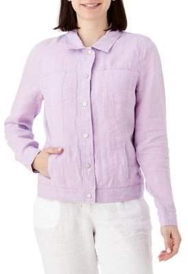 Olsen Santorini Linen Button-Front Jacket