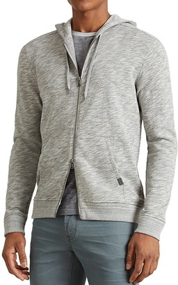 John Varvatos Star USA Space Dye Zip Hoodie Sweatshirt $168 thestylecure.com