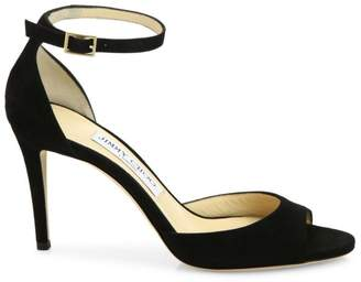 f349694f2e3 Jimmy Choo Black Strap Sandals For Women - ShopStyle UK