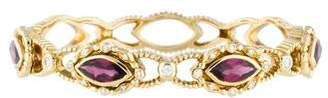 Doris Panos 18K Diamond and Almandine Garnet Bracelet