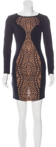 Emilio Pucci Emilio Pucci Lace-Accented Knit Dress
