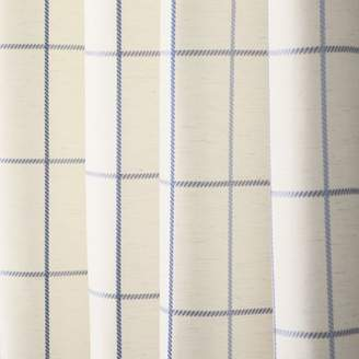 Best Home Fashion Best Home Fashion, Inc. Grommet Grid Stitched Linen Blend Plaid & Check Semi-Sheer Curtain Panels