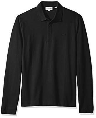 Lacoste Men's Long Sleeve Reg Fit Stretch Pique Nouvelle Polo