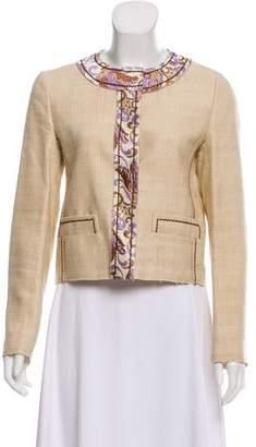 Prada Jacquard-Accented Silk Jacket