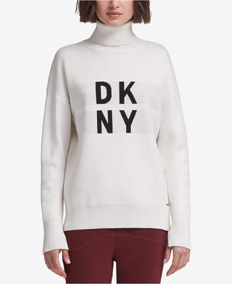 DKNY Logo Turtleneck Sweater
