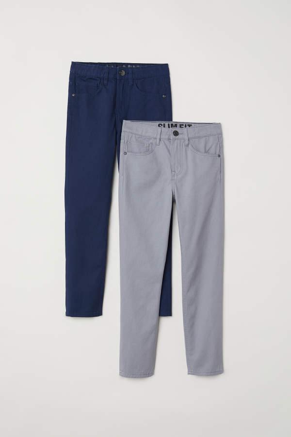 Slim Fit Twill Pants