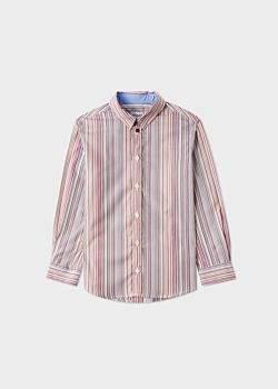 Paul Smith Boys' 8+ Years Signature Stripe Cotton Shirt