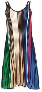 Kenzo Colorblock Rib-Knit Fit-&-Flare Dress