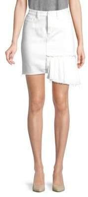 Habitual Asymmetrical Hem Denim Skirt