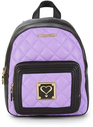 Love Moschino Women's Quilted Heart Backpack