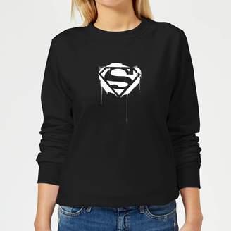 Justice League Graffiti Superman Women's Sweatshirt