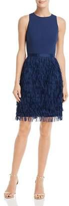 Aidan Mattox Fringe-Trimmed Cocktail Dress
