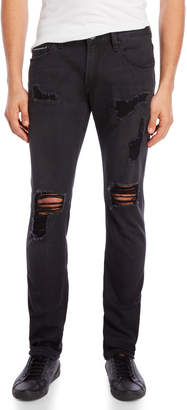 Cult of Individuality Vintage Black Rocker Slim Jeans