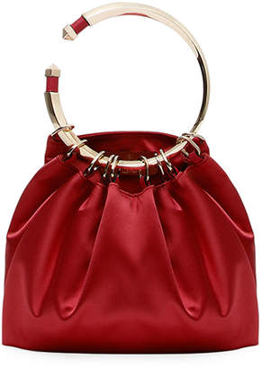 Valentino Bebop Loop Satin Clutch Bag