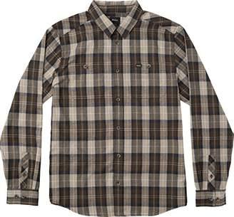 RVCA Men's Bone Flannel Long Sleeve Woven Shirt