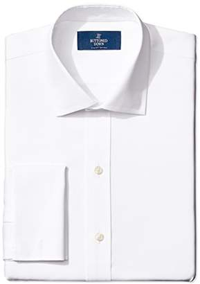 Buttoned Down Men's Slim Fit French Cuff Spread-Collar Non-Iron Dress Shirt