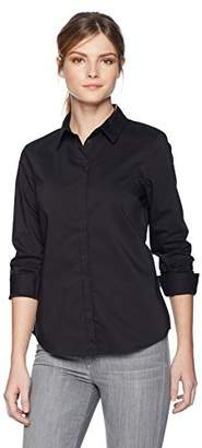 Armani Exchange Women's 8nyc02 Blouse, (Black 1200), X-Large