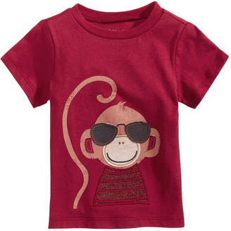 First Impressions Toddler Boys Monkey-Print Cotton T-Shirt