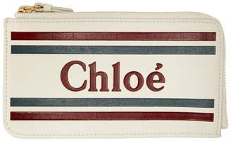 Chloé Off-White Vick Zipped Card Holder