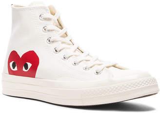 Comme des Garcons Converse Large Emblem High Top Canvas Sneakers