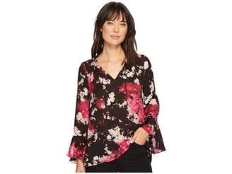 Ellen Tracy Full Sleeve Blouse with Tie Women's Blouse