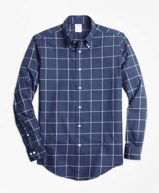 Brooks Brothers Regent Fit Windowpane Flannel Sport Shirt