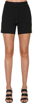 Kenzo Contrasting Color Crepe Shorts