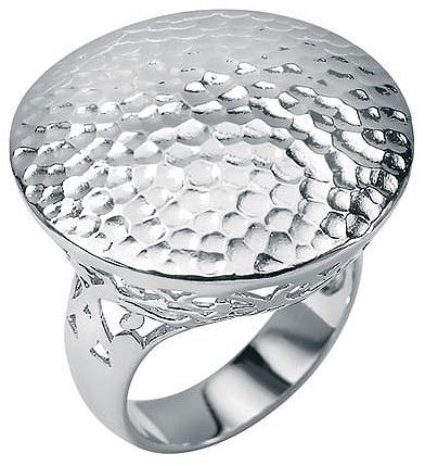 Hammered-style SS filigree ring