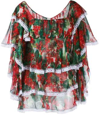 Dolce & Gabbana floral print ruffled blouse