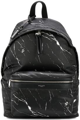 Saint Laurent marble print backpack